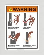 Safety Sign For Press Machines