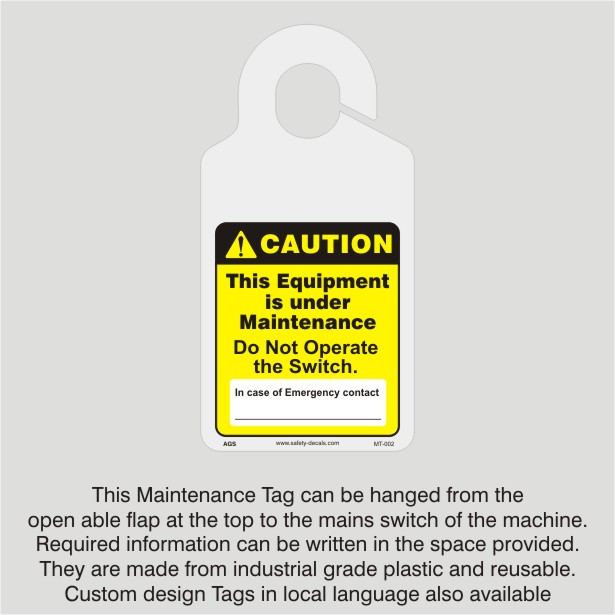 Maintenance Tag_